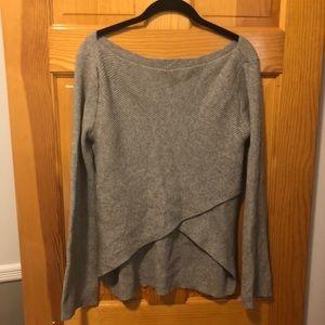 Zara Grey Layered Sweater with Flared Sleeves